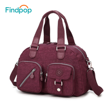 Findpop Vintage Handbags Women Tote Bags 2017 Fashion Casual Canvas Crossbody Bags Waterproof Travel Handbag Large