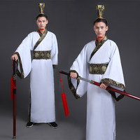 Men's Hanfu Costume Cosplay Clothes Chinese Traditional Dance Clothing Boy Male Chinese Ancient Robe Dance Folk Costume 89
