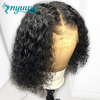 13x6 Curly Lace Front Human Hair Wigs Pre Plucked With Baby Hair Glueless Brazilian Lace Front Wigs NYUWA Remy Hair Short Wigs