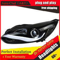 Auto Clud Car Styling 2012 2014 For Ford Focus LED Headlights New Focus3 DRL Lens Double