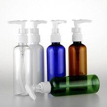 5pcs/set 100ml transparent/blue/green/white/brown plastic bottle Socket pump Emulsion liquid Sub-bottle wholesale BQ155