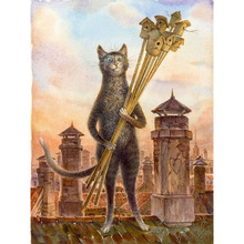 Frameless Cat Truncheon DIY Pictures Painting By Numbers Digital Canvas Oil Living Room For Home Office Decor