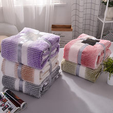 Color stripe fleece blanket summer winter super warm soft blankets thicken throw on sofa/bed/ travel picnic bedspreads sheets(China)