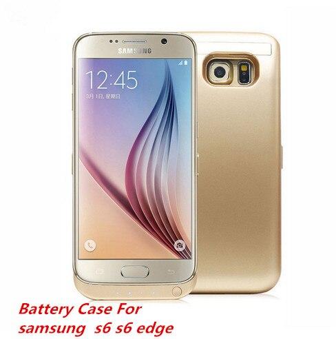 bilder für SMEB Hohe kapazität 6500 mah Stromversorgungsanlagebank Ladegerät Fall für Samsung Galaxy S6/S6 Rand Power Fall Handyfall
