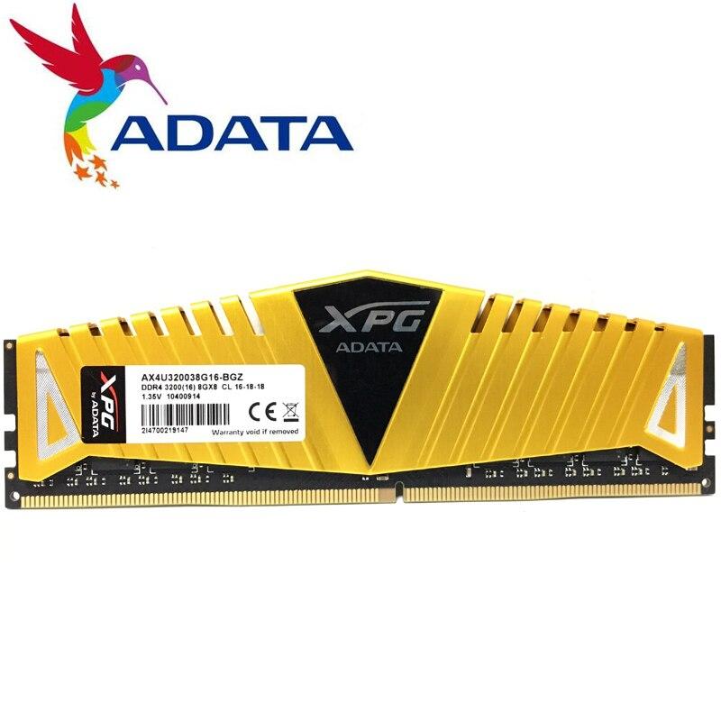 ADATA XPG Z1 PC4 8 GB 16 GB DDR4 3000 3200 2666 MHz PC mémoire ram DIMM 288 broches ram de bureau mémoire interne RAM 3000 MHZ 3200 MHZ