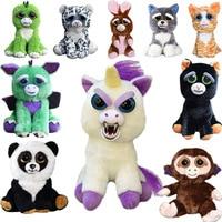Wypchanych Zwierząt Doll Zwierzęta Feisty Zmienić wyraz Twarzy Pluszowe Zabawki Śmieszne Zabawki Dla Dzieci Śliczne Prank Toy Christmas Gift