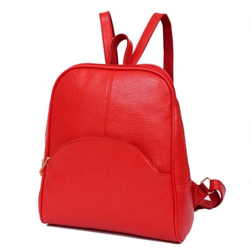 Panta shpine lëkure, çanta të rrumbullakëta të stilit të - Çantë e shpinës - Foto 3
