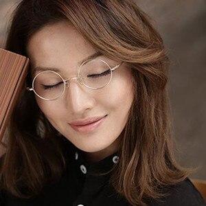 Image 2 - Bisagras de resorte redondas pequeñas para miopía, lentes Vintage de 38mm con monturas para gafas metálicas