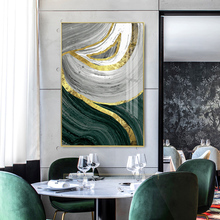 100% Hand Painted Abstract Golden Art Oil Painting On Canvas Wall Adornment Pictures For Live Room Home Decor