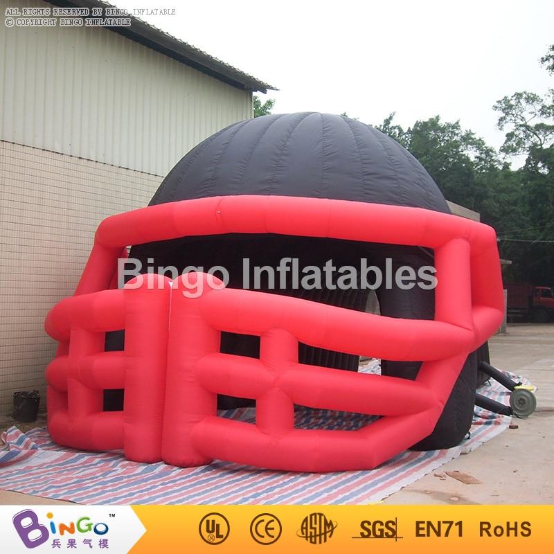 black inflatable helmet tunnel/Outdoor advertising inflatable football helmet tunnel toy tents