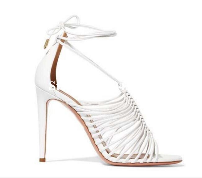 Rome À Sandales Chaussures Sexy out Bout Up Mariage Style Ouvert Party Hauts D'été Rousmery De Femmes Bretelles Dentelle Cut Out Nouveau Creux Talons gvwq8xd8