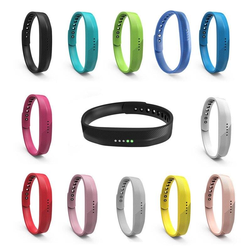 Cleveres Zubehör 15 Farben Silikon Für Fitbit Flex Smart Armband Uhr Armband Ersatz Handgelenk Band Multi-farbe Silicon Strap Verschluss