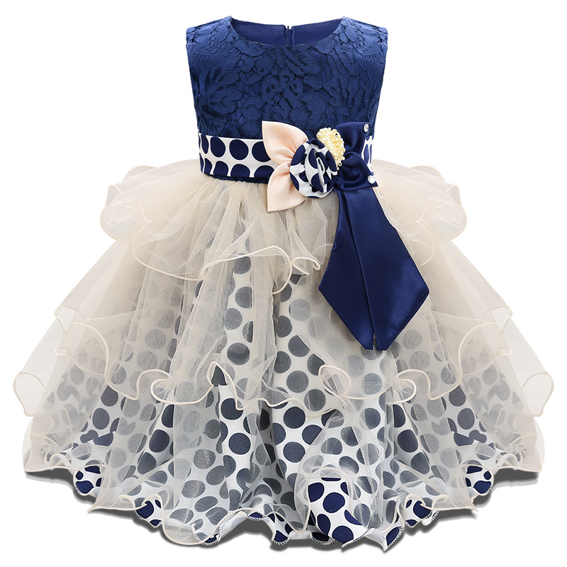 Baby Girl Vantage Dress For 1 Year Baby Baptism Clothes Bebes 1st 2nd Birthday Outfits Tulle Tutu Dots Dresses For Wedding Party