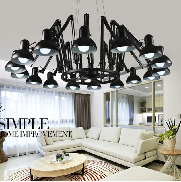 Moderne spider Hanglampen led lampen woonkamer studio led hanger ...