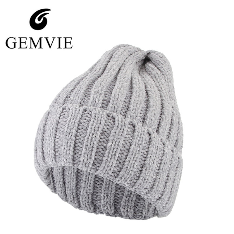 4ee9a462b US $9.43 18% OFF|Autumn Winter Men Women Fashion Knitted Hat Casual Solid  Color Unisex Beanies Outdoor Keep Warm Skiing Hat Winter Knit Caps-in Men's  ...