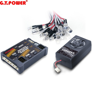G.T.Power Bluetooth Version RC Car Engine Sound Simulated System / Lights Simulated System For RC Car Axial SCX 10 TRX4(China)