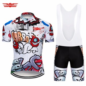 Image 2 - Crossrider 2020 Funny Cycling Short Jersey 9D bib Set MTB Bike Clothing Breathable Bicycle wear Mens Maillot Culotte