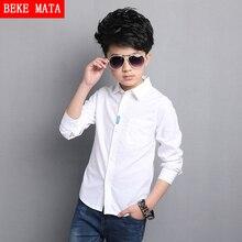 Blanc Garçon Chemises Pour Enfants 2017 Printemps De Mode Solide École Garçons Chemises À Manches Longues Respirant Formelle Enfants de Chemises Pour 5-15Y