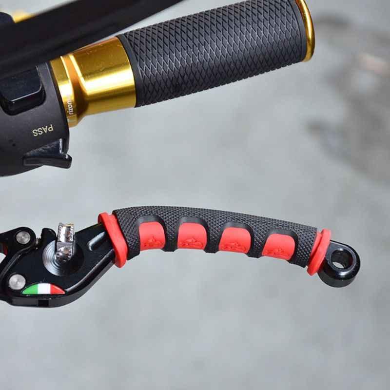 1 par para empuñadura de motocicleta palanca de embrague y freno de moto cubierta manillar