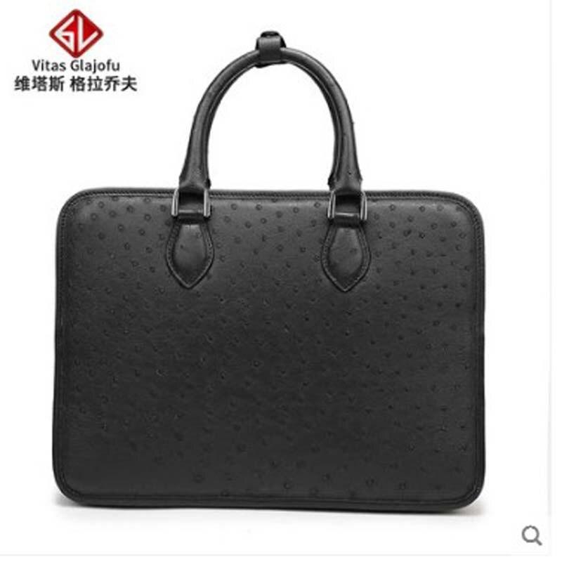 weitasi 2019 new Ostrich skin handbag cross bag for men leisure men's bag men handbag