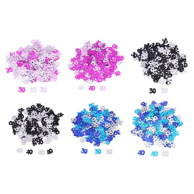 45g/Lot) Multi Color Digit 3 Confetti Number Three Sequin