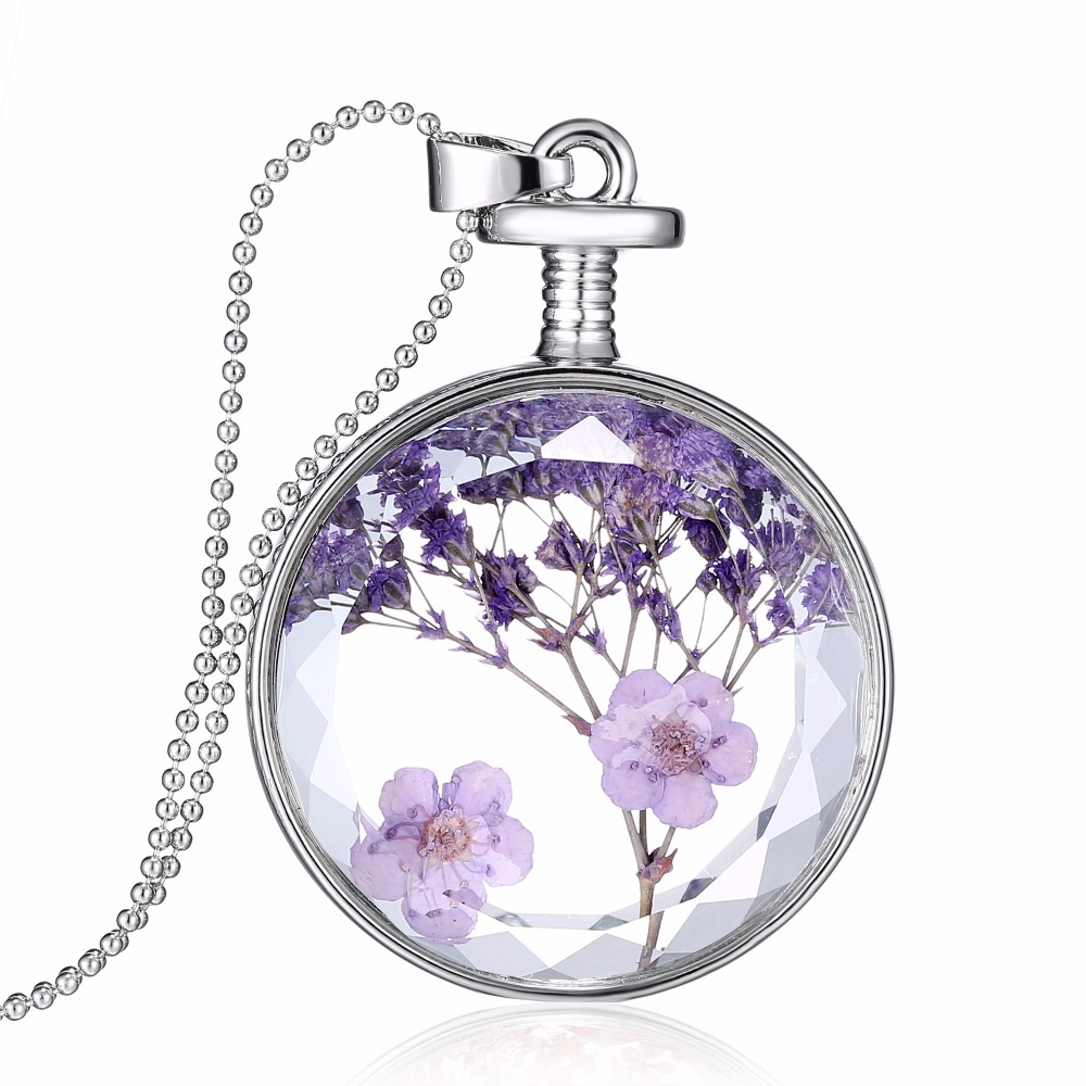 Dried Flowers Necklace