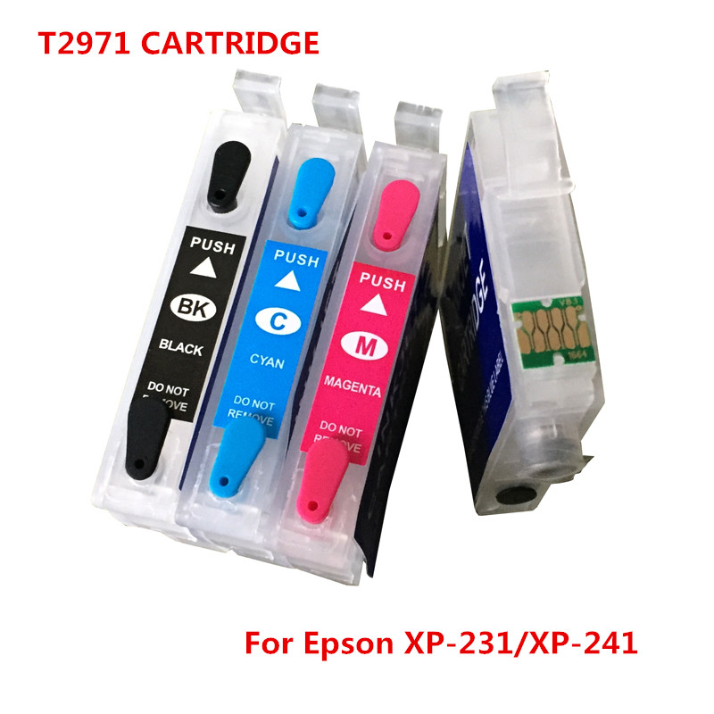 For Epson T2971 Refillable Ink Cartridge For Epson XP231 XP431 XP-241 inkjet Printer Cartridge With Chips