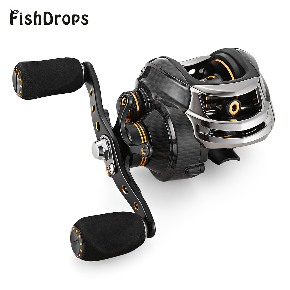Hot Sale Fishdrops LB200 Fishing Reel GT 7.0:1 Bait Casting Reels Left Right Hand Fishing One Way Clutch Baitcasting Reel snakehead 3 model metal spool 19bb 7 0 1 baitcasting fishing reel left hand right saltwater large low profile bait casting reels