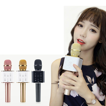 лучшая цена Wireless Microphone Bluetooth Stereo Speaker For Karaoke KTV Phone K Song Player For IOS Android xiaomi huawei Phone