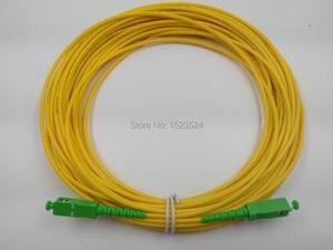 Image 1 - 送料無料 SM SX PVC 3 ミリメートル 50 メートル SC/APC 光ファイバジャンパーケーブル SC/APC SC/ APC 光ファイバパッチコード