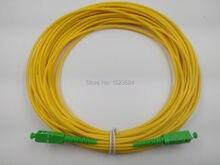 Ücretsiz kargo SM SX PVC 3mm 50 metre SC/APC Fiber optik bağlantı kablosu SC/APC SC/APC fiber optik yama kablosu