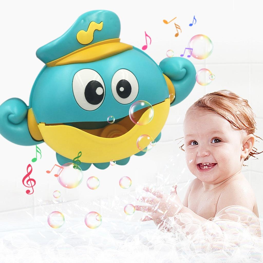 New Bubble Crabs Bath Toy For Children With Sucker Maker Music Bathroom Shower Pool Bathtub Soap Swimming Kid Bubble Machine
