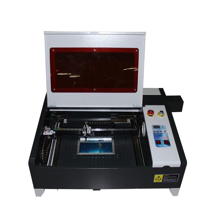 CO2 laser gravur maschine 4040 50W mit Aluminium messer und honig kamm tisch
