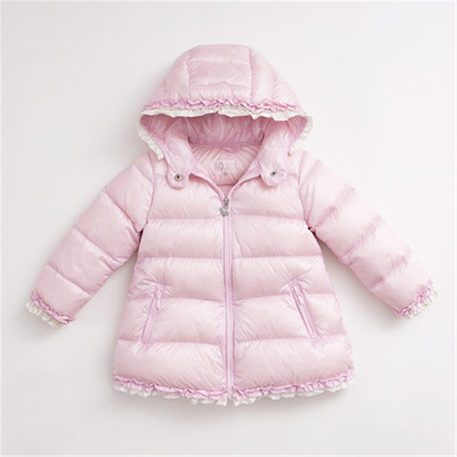 Girls Winter Jacket Child Girls Down Coat Parkas Light Warm Children Jacket Comfortable White Duck Long Down Jacket 50F1515 2017 winter women jacket new fashion thick warm medium long down cotton coat long sleeve slim big yards female parkas ladies269