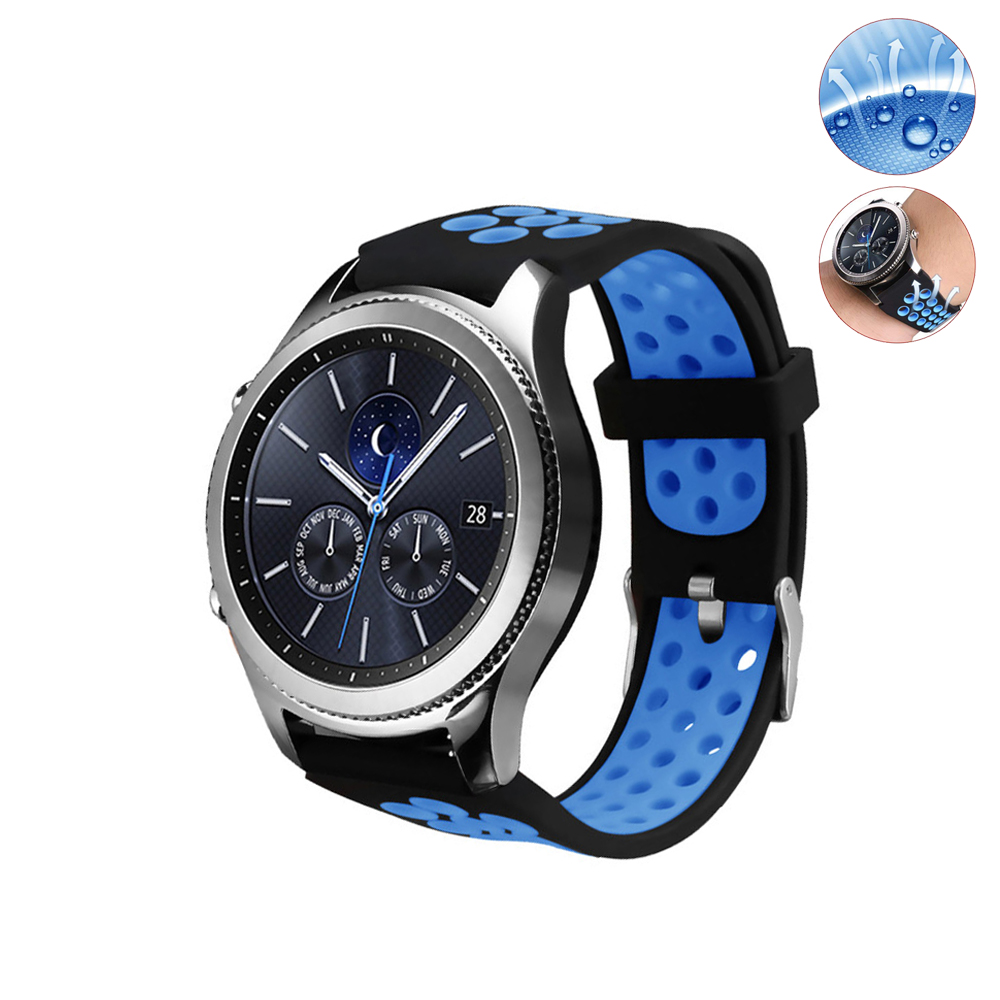 22mm sport silicone strap for samsung gear s3 Frontier/Classic R760 R770 watch band rubber atch belt accessories dahase sport soft silicone strap for samsung s3 classic r770 band 22mm bracelet for gear s3 frontier r760 watch band with pins