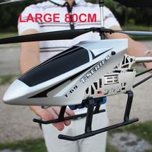 Хит 3.5CH очень большой 80 см Радиоуправляемый вертолет из сплава с гироскопом RTF камерой для детей уличные летающие игрушки
