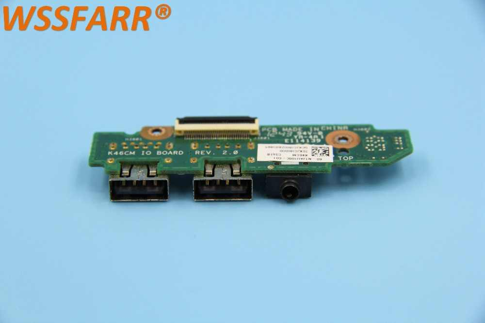 Original para ASUS K46C S46C A46C K46CM K46CB K46CA ordenador portátil Audio USB IO placa de interfaz
