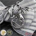 (27063)10PCS 47*43MM Antique Silver Plated Zinc Alloy Necklaces Pendants Dragon Pendants Diy Handmade Jewelry Findings