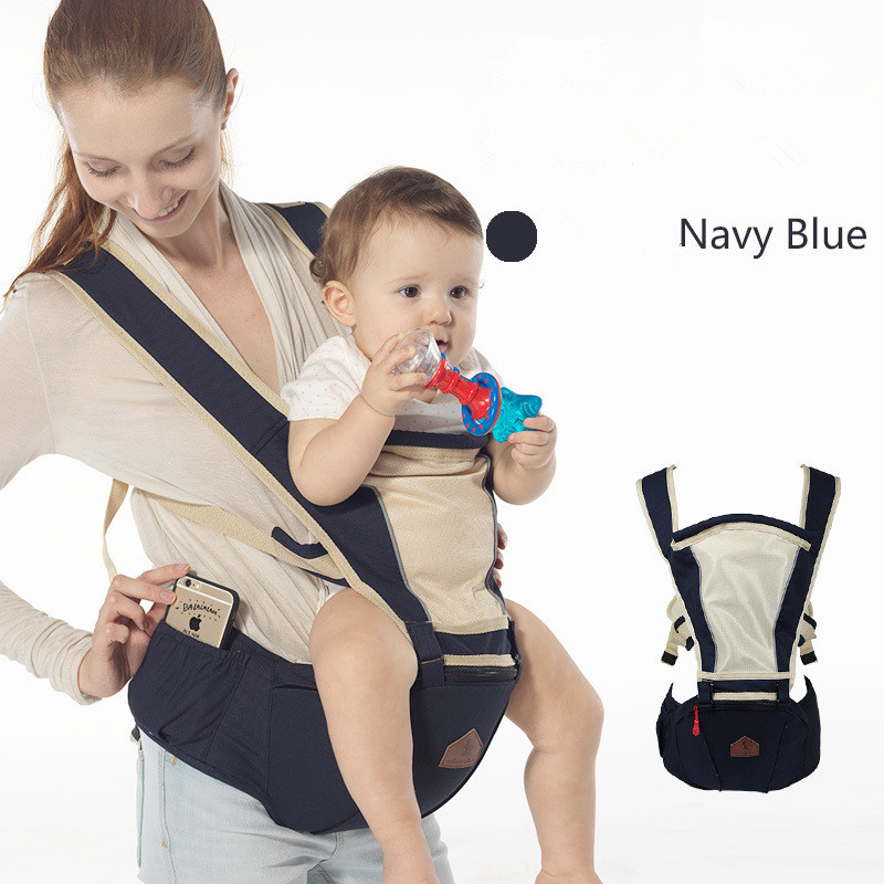 Breathable Baby Carrier Sling with Waist Stools Toddler Kangaroo Backpack Carrier Hipseat Baby Care Activity&Gear Product 0-36M baby carrier hipseat backpack sling wrap toddler breathable cotton rider canvas classic surper economic children suspenders