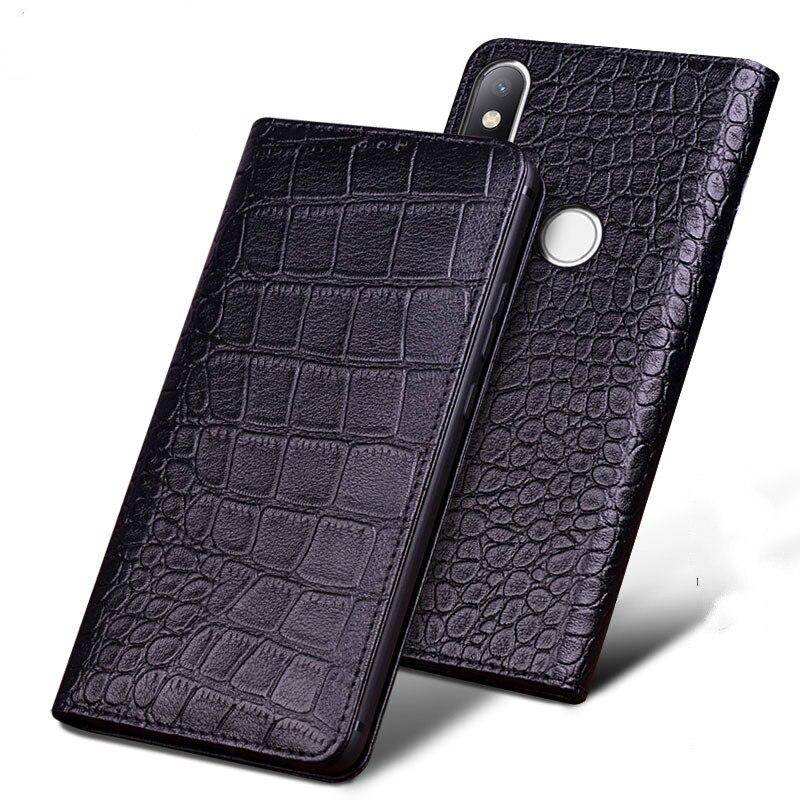 Pour Xiao mi mi Max 3 étui de luxe Original marque véritable Crocodile en cuir téléphone coque pour xiaomi mi Max3 6.9 pouces