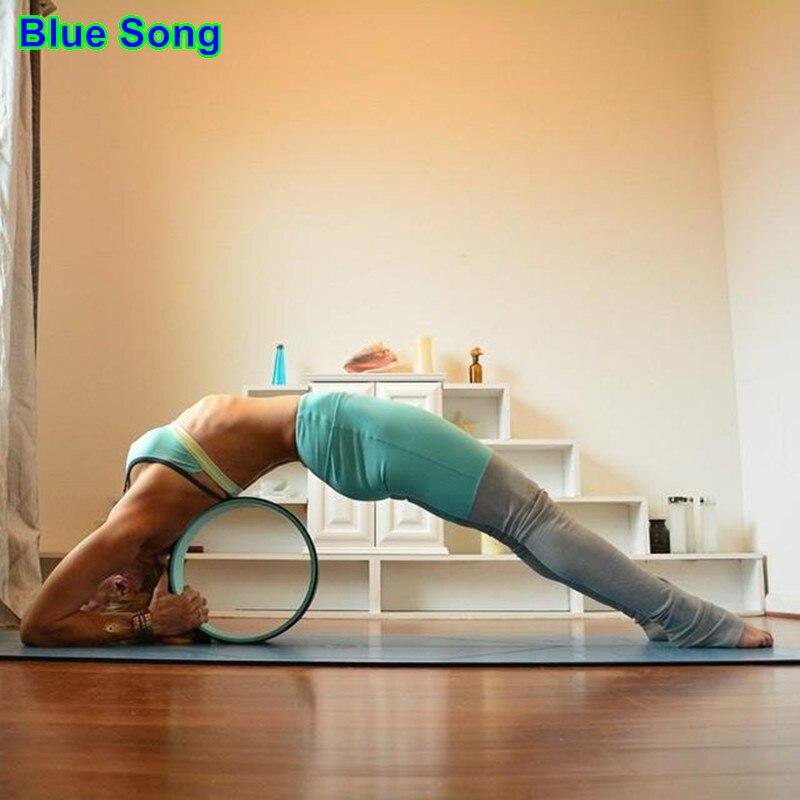 33CM 13CM Yoga Circles Training Wheels Pilates Yoga Physio Gym For waist shape bodybuilding workout Fitness