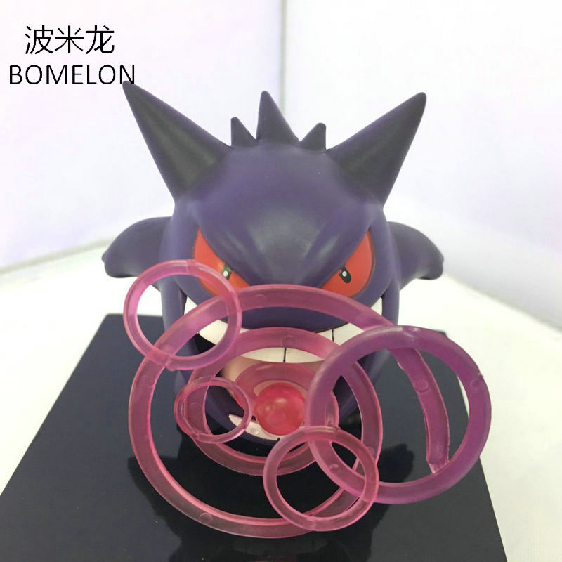Mini Gengar Skill Action Figure Anime Peripherals Pocket Monster Toys Spirit PVC Doll Collection Model Kids Toys for Boys Gifts цена