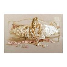 Алмазная вышивка в виде балерины бриллиантовая картина Стразы