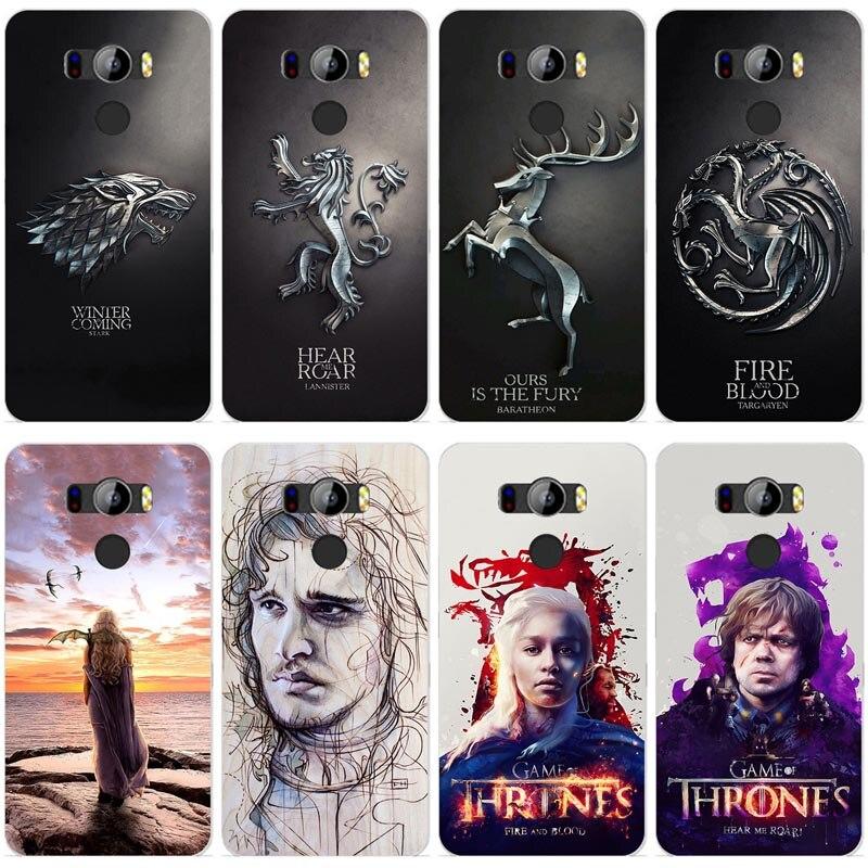Pour Game of Thrones Drogon pour Elephone P9000 Peint TPU silicone Téléphone Cas pour Elephone P 9000 Cas De Couverture pour elephone P9000