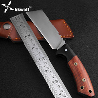 High Quality Outdoor Hunting Knife Very Sharp Handmade Slasher Tactical Combat Fixed Blade Knife Camping Survival