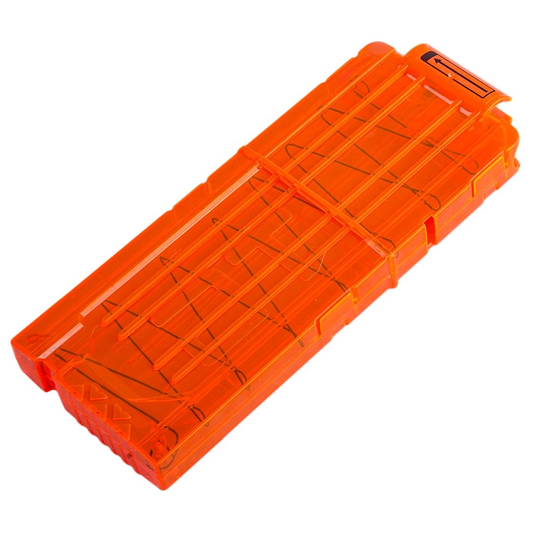 12-Reload-Clip-Magazines-Round-Darts-Replacement-Plastic-Magazine-Toy-Gun-Soft-Bullet-Clip-Orange-N-Strike-Elite-Kids-2