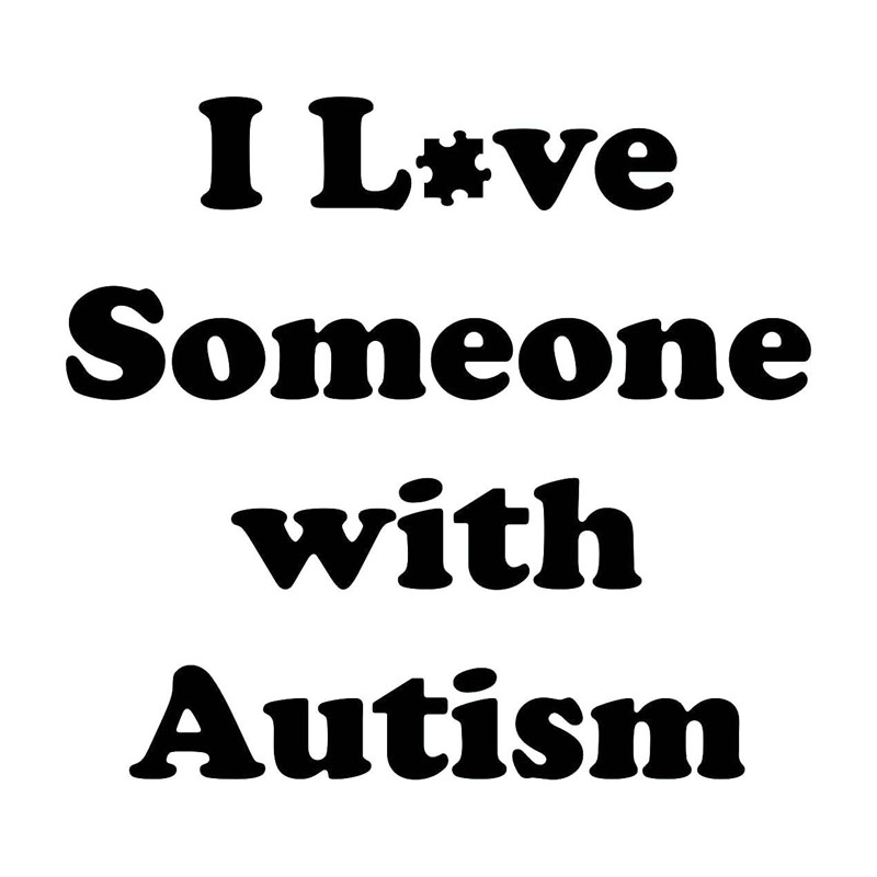 36c3b323567 15X13.7CM I LOVE SOMEONE AUTISM Funny Personality Car Sticker Car