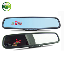 four Sensors 6 Shade Automobile LED Mirror Parking Help Backup Radar Sensor + Particular Blue Rearview Mirror Monitor With Bracket