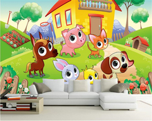 beibehang 3d wallpaper Fashion beautiful wall paper original Nordic simple cartoon animal forest children s room back