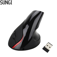 SUNGI S6 Optical Wireless Mouse Vertical Mouse Ergonomic Design Mice Vertical Rechargeable Built-in Battery For Desktop Laptop